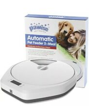 PAWISE Automatic Pet Feeder for Dogs and Cats, 5 Meal Trays Brand New