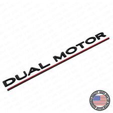 For Tesla Black Dual Motor Redline Rear Trunk Tailgate Badge Performance Emblem