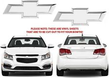 Colormatched Summit White Vinyl Bowtie Overlays For 2012-2018 Chevrolet Cruze