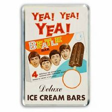60's NOSTALGIA 'THE BEATLES' ICE CREAM ADVERT - JUMBO FRIDGE MAGNET