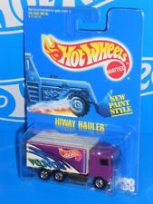 Hot Wheels Early 1990s Blue Card Mainline #238 Hiway Hauler Purple w/ Bws