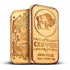 1 oz Copper Bar - Buffalo Nickel