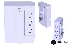6 Outlet 3 Side Swivel Wall Tap Power Strip Surge Protector