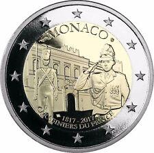 Monaco 2 Euro 200 Jahre Fürstliche Karabinierskompanie 2017 Polierte Platte