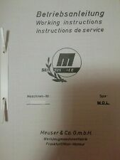 Bedienungsanleitung Manual Meuser MOL