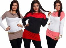 Striped Scoop Neck Long Sleeve Stretch Women's Tops & Shirts
