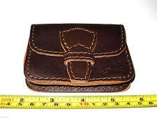 Saddleback Leather Retired Script Logo MEDIUM BELT POUCH Dark Coffee Brown DCB