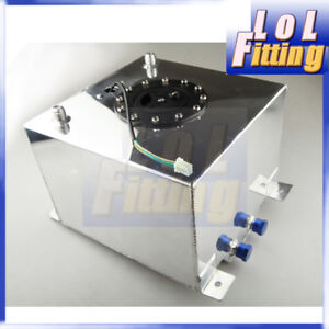 Universal Lightweight Aluminum 5 Gallon (20L) Fuel Cell Tank + GM Sending Unit
