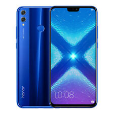 "New Huawei Honor 8X Blue 6.5"" 64GB Dual Sim 4G LTE Android 8.0 Sim Free Unlocked"