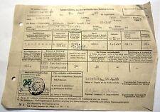 Anmeldung bei der polizeiliche Meldebehöhrde vom 14.6.1946 in Borna/Sachsen