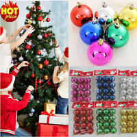 12Pcs Christmas Balls Baubles Xmas Tree Hanging Ornaments Party Baubles Decor
