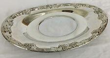 "Silver Plate Pilgrim Grape Bunch Dish 9"" x 5-1/2"""
