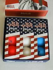 Volvik Usa Red White & Blue Special Edition Golf Balls Set of 9