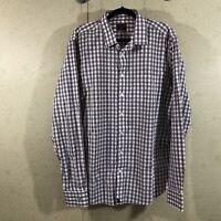 UnTUCKit Long Sleeve Button Down Plaid 100% Cotton Men's Size XL Tall