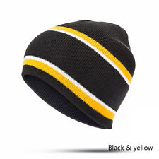 Men Women Knitted Hat Baggy Beanie Winter Warm Cap Ski Outside Travel Hats