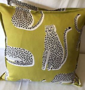 FABULOUS CUSHION COVER MADE IN HARLEQUIN SCION LIONEL, THE PROUD LEOPARD