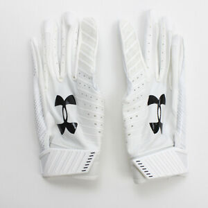 No Current Team Under Armour  Gloves - Receiver Men's White New with Tags