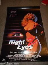 NIGHT EYES 2 - ORIGINAL SS ROLLED HOME VIDEO POSTER - 1991 - SHANNON TWEED