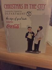 Dept 56 Christmas in the City Coca-Cola The Sign of Good Taste 4044796