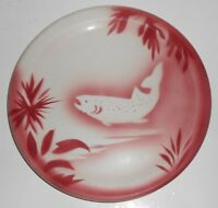 Jackson China Restaurant Red Airbrushed Salmon/Trout Plate