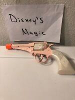 Rare  Edison Giocattoli Cap Gun Toy Revolver Made in Italy-Pink With Orange Cap