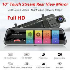 """10"""" Stream Mirror 1080P Touch Screen Car DVR Rear View Mirror Video Dash Camera"""