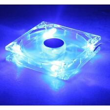 12cm 120mm Blue LED PC Case Fan, 3 + 4 Pin, Sleeve Bearing, 51.73 CFM, 1200RPM