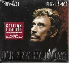 CD + DVD DIGIPACK JOHNNY HALLYDAY 2 TITRES + CLIP L'INSTINCT EDIT. LIMITÉE NEUF