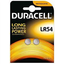 2 pilas Botón Lr54 Batería Duracell Ag10 alcalina J89/ka54/lr1130 validez 2019