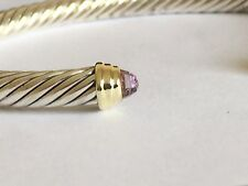 DAVID YURMAN 14K GOLD, SS LAVENDER AMETHYST BRACELET SMALL