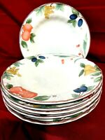Mikasa Country Classics DC014 Fruit Panorama Set Of 6 Rimmed Soup/Salad Bowls