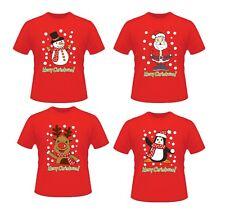Unisex Men Women 100% Cotton Novelty Christmas Festive T-Shirt