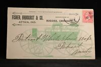 Indiana: Attica 1896 Fisher, Arbogast Horse Buggy Allover Advertising Cover