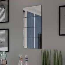 vidaXL 8x Piastrelle in Vetro a Specchio Senza Cornice da Parete Specchiera