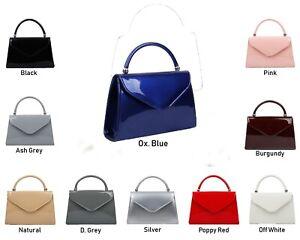 Womens Retro Tote Evening Bridal Wedding Clutch Bag Small Designer bag PATENT