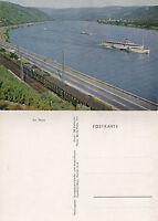 GERMAN RIVER CRUISE SHIP ON THE RHEINE UNUSED COVER POSTCARD
