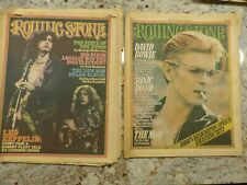 2 Rolling Stone Magazines 182 1975 Led Zeppelin & 206 1976 David Bowie