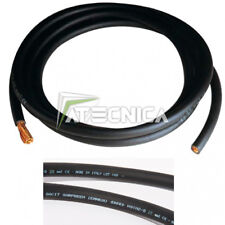 1 mètres silicone Câble 6,0 mm² awg10 Noir hochflexibel