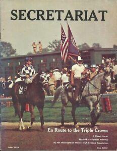 """1973 - June - SECRETARIAT - En Route to the Triple Crown Cover Photo - 8"""" x 10"""""""
