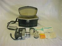 BELL & HOWELL Director Series ZOOMATIC 8mm Movie Camera 414-414P w/Case LQQK!