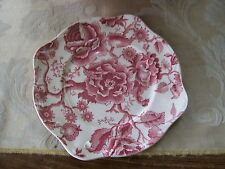 Johnson Brothers/England...English Chippendale Salad Plate........Burgundy/Rose