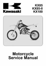 New Kawasaki KX 85, KX 100, 2007 2008 2009 2010 Repair Service Manual Free S&H