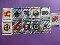 2019-20 Topps NHL Sticker Album Card Lot Of 11 All Team Logos 8 Rainbow No Doubl