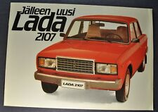 1983 Lada 2107 Catalog Sales Brochure Finnish Text Excellent Original 83