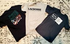 New listing Lot of 3 Men's lax mll Next Level East Coast Dyes Lacrosse Red Tee T-Shirt S/M
