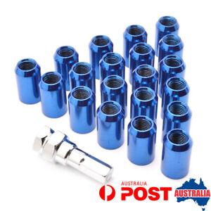 20PCS Blue M12x1.25 Forged Steel Locking Wheel Nuts For Nissan Infiniti Subaru