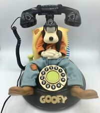 VINTAGE Disney GOOFY Talking Telephone - Animated Corded Phone In Original Box