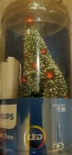 Philips Christmas LED Brush Tree Red Ornaments Battery Operated Warm White NEW