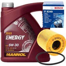 BOSCH ÖLFILTER + 5L Mannol 5W-30 ENERGY Motor-Öl CITROEN PEUGEOT FORD VOLVO MINI