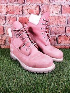 TIMBERLAND Waterproof Pink Leather Women's Boots Size UK 8